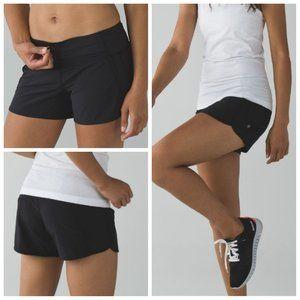 Lululemon Run Times Short Solid Black Size 8